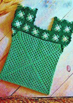 Granny Square Top Vintage Crochet Pattern por MomentsInTwine