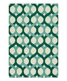 Love this Blue & Green Weston Wool Rug on #zulily! #zulilyfinds