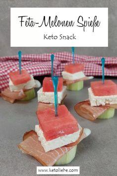 Feta-Melonen Spieße - auch ein leckerer Keto Snack #FetaMelone #Melonen #Fingerfood