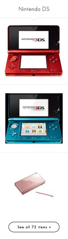 """""""Nintendo DS"""" by princess-anastasia29 ❤ liked on Polyvore featuring electronics, fillers, tech, video games, games, accessories, pink, technology, gadgets and filler"""