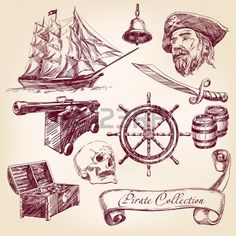 pirate collection Banque d'images