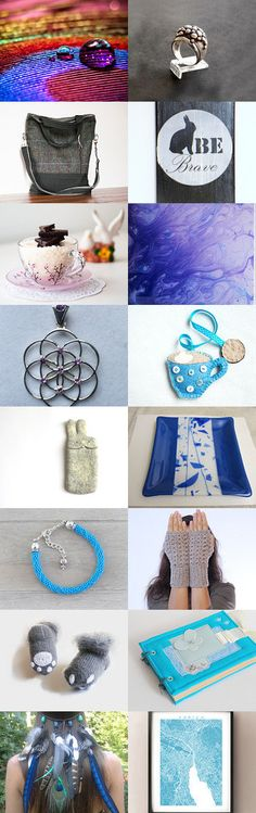 Blue and Gray from advertising world team by Sarrah on Etsy--Pinned with TreasuryPin.com