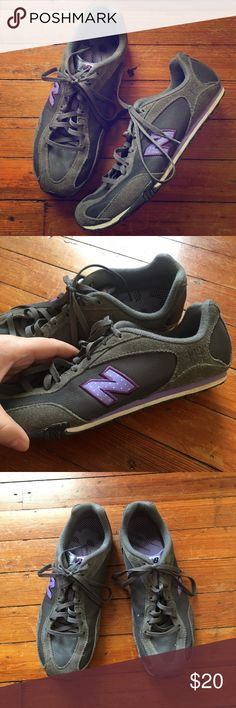 New Balance Gray & Purple Tennis Shoes Size 9 These shoes are very comfortable! Signs of wear shown in photos! In great condition! New Balance Shoes Sneakers