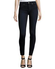 #jeanshosen #darkblack Paige Hoxton Mona Ultra Skinny Jeans