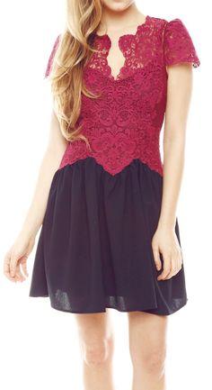 lace top dress. looks like indonesian kebaya :)