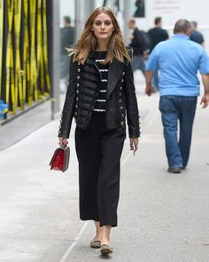 The Easiest Olivia Palermo Outfits to Copy for Work via @WhoWhatWear