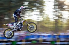 Tonya Colson Photography    AMA Pro Motocross, Washougal: Chad Reed went full throttle to win both moto rounds in Washougal, 2009. He was literally flying, but in a still frame he seemed to be frozen in space. This panning shot gives a better feel of the speed and action in the final race. This shot was taken just after Reed came from behind to take the lead- he ended up winning by 8 seconds. Panning takes a little trial and error, but it's a great way to show motion. After all, some things…