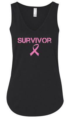 Royal Lion Womens Racerback Tank Top Dk Cancer Pink Ribbon Survivor Hope