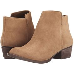 Jessica Simpson Delaine Women's Boots ($88) ❤ liked on Polyvore featuring shoes, boots, ankle booties, ankle boots, brown, suede ankle booties, short brown boots, short boots and brown booties