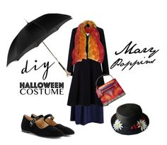 """#DIY Halloween Costume: Mary Poppins"" by turqoiseninja ❤ liked on Polyvore featuring John Lewis, Valentino, Sujuu, Alexander McQueen, The Row and plus size clothing"