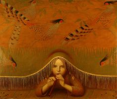 The painting style of Moscow based artist Andrey Remnev lies somewhere between antiquity and contemporary. One look at his work, and it should come as no surprise that he studied painting at the Ho… Art Du Monde, Superflat, Psy Art, Magic Realism, Medieval Fashion, Russian Art, Oeuvre D'art, Figurative Art, Painting & Drawing