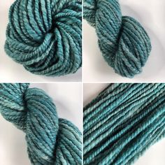 Handspun Swaledale yarn - hand dyed in a lovely shade of teal.