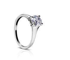 Palladium Engagement Ring with 1.00 Slightly Tapered  Solitaire #engagementring #sholdtring #engagement #diamondring #palladium #sayido #sholddesign #sholdtjewelry