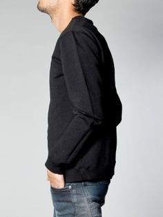 Sweatshirt Organic Clean Black - Nudie Jeans Co Online Shop