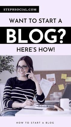 Want to start a blog? Blogging for beginners. Start a blog for beginners. How to start a blog. Side hustle. Make money online. Make money from home. Blog tips. Blogging tips for beginners. WordPress blog tips. Bluehost for beginners. How to set up a blog. #startablog #blogging #bloggingtips #bloggingforbeginners #bloggingformoney #sidehustles #wordpress #bluehost Make Money Blogging, Make Money Online, Blog Logo, Book Suggestions, Blog Planner, Blogger Templates, Blogging For Beginners, Blog Tips, Hustle