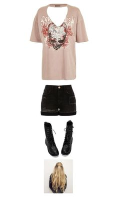 """""""Untitled #3639"""" by twerkinonmaz ❤ liked on Polyvore featuring Topshop and River Island"""