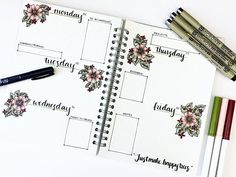 "33 Likes, 5 Comments - Jennifer (@journalrella) on Instagram: ""Happy Monday! Here's the weekly spread - I definitely got caught up over the weekend! I feel more…"""