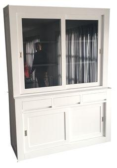 Winkelkast wit - grijs Diemen 160cm
