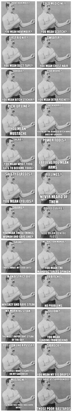 "Overly manly man compilation...  My favorite is ""bitch sticker"""