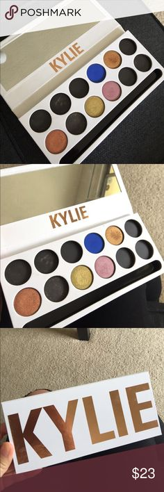 Kylie cosmetics royal peach palette Kylie cosmetics royal peach palette select eye shadows. Bought this palette and realized I have a lot of dupes of these eyeshadow already, so selling some with the original palette! Selling 5 eyeshadows in the original palette as shown. All have been swatched only about 2x or less. Shadows are: duchess, mojito, North Star, royal, and queen bee. I depotted the eyeshadows right away, so palette is super clean and brand new looking! Kylie Cosmetics Makeup…