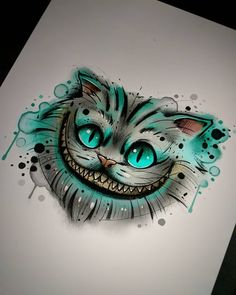 New art tatoo: New art tatoos, tatoo, tatuagens, desenhos para ta. Cute Disney Drawings, Cool Art Drawings, Art Drawings Sketches, Cartoon Drawings, Drawing Disney, Drawing Ideas, Cheshire Cat Drawing, Cheshire Cat Tattoo, Gato Alice