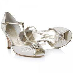 1920s Art decó zapatos con broche, ideal casamiennto