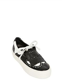 Shoe-Bar Leather brogue sneakers