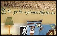 thatch over the window? site has tons of pirate bedroom ideas!