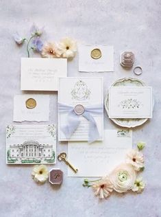 """This Parisian Inspired Wedding Has Us Saying """"Oui"""" To All The Chic Details Floral Wedding Stationery, Watercolor Wedding Invitations, Floral Invitation, Wedding Invitation Suite, The Chic, Wedding Thank You, Wedding Centerpieces, Wedding Details, Wedding Venues"""