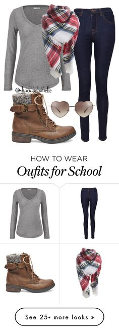 """""""Cute School Outfit"""" by diavianshanelle on Polyvore featuring maurices, J Brand, Love, Steve Madden, women's clothing, women, female, woman, misses and juniors"""