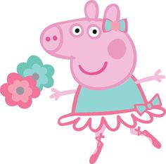 Peppa Pig ballerina files for cutting and printing Layered SVG PNG DXF Birthday Party Decoration Ve Peppa Pig Images, Peppa Pig Wallpaper, Pig Png, Baby Activity Board, Aniversario Peppa Pig, Cumple Peppa Pig, Peppa Pig Family, Silhouette Cameo Vinyl, George Pig