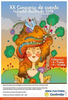 Poster para concurso de cuento infantil Comfamiliar, Risaralda.