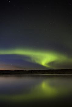 ✯ Night Shot - Northern Lights - occurred in Northern Saskatchewan, Canada -- *Regina and Saskatoon Northern Lights becomes very faint, although it may depends on the season