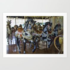 Prancing Ponies Art Print by alanathrower Wall Art For Sale, Gifts For Horse Lovers, From The Ground Up, Canvas Prints, Art Prints, Buy Frames, Unique Art, Printing Process, Pony