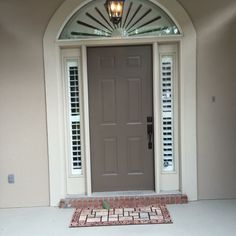 Sidelight plantation shutters with arch