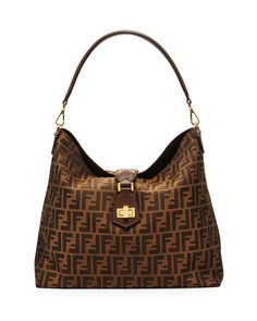 24945f586c56 Fendi Zucca Small Hobo Bag