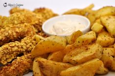 Crispy strips (la cuptor) si cartofi wedges Sorbet, Healthy Recipes, Healthy Food, Wedges, Mai, Cooking, Ethnic Recipes, Kitchens, Salads