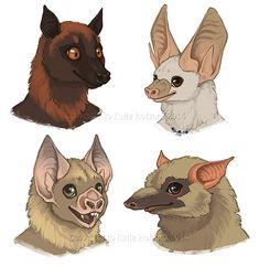 Bat Faces - Furries Furever Art Book by KatieHofgard on DeviantArt