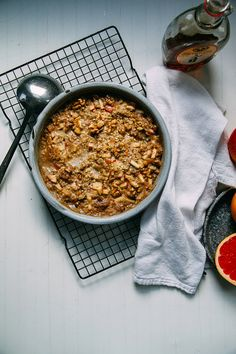 It's a very hearty breakfast and freezes well. This will be standard rotation. kg hearty apple-spice buckwheat bake (vegan + gluten-free) Health Breakfast, Sweet Breakfast, Healthy Breakfast Recipes, Brunch Recipes, Breakfast Ideas, Vegan Breakfast, Breakfast Bake, Breakfast Bowls, Granola