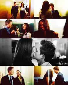 """""""Suits"""" Mike and Rachel."""