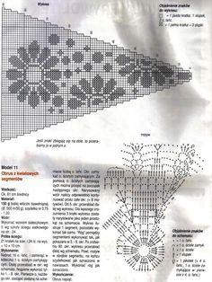 """Photo from album """"Moje robotki on Yandex. Crochet Doily Diagram, Crochet Doily Patterns, Crochet Mandala, Crochet Squares, Crochet Motif, Crochet Shawl, Crochet Doilies, Crochet Men, Crochet Round"""