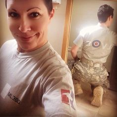 """We really appreciate all the support and positive feedback from our customers! Sometimes we get a message that truly means the world to us......  Recently we were contacted by Ani Taddeo, who is none other than the granddaughter of Cdr. Al Taddeo, one of the original US Navy Blue Angels!!   """"On 3 September, the face of God touched me. I wear mine proudly in uniform. Thanks, Sierra Hotel.""""   Thank you Ani, for your kind words, and for your service! You do us proud!! Us Navy Blue Angels, Fan Picture, Positive Feedback, Kind Words, Canada Goose Jackets, September, Winter Jackets, God, The Originals"""
