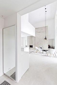 Black, white and concrete living room photo by Marja Wickman blog Musta Ovi: