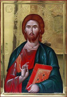 Icon orthodox Byzantine Icons, Byzantine Art, Religious Icons, Religious Art, Images Of Christ, Getty Museum, Orthodox Icons, Book Of Life, Holy Spirit