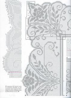 View album on Yandex. Irish Crochet Patterns, Filet Crochet Charts, Bobbin Lace Patterns, Crochet Borders, Crochet Cross, Knitting Charts, Weaving Patterns, Crochet Trim, Thread Crochet