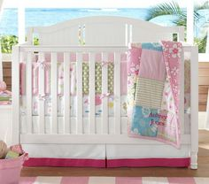 Baby Crib Bedding | Baby Nursery Room with Girls Bedding Sets Designing the Baby Nursery ...