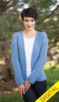Bainbridge #Cardigan Digital #Crochet Pattern from Love of Crochet magazine, Spring 2015