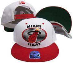 Miami Heat White/Red Tone Plastic Snapback Adjustable Snap Back Hat/Cap Twins. $29.99