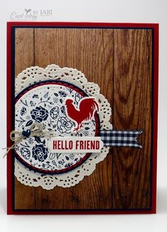 Stampin' Up! Wood Words Hello-Cardiology by Jari