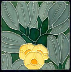 Art Nouveau tile, Rako, tile 906022